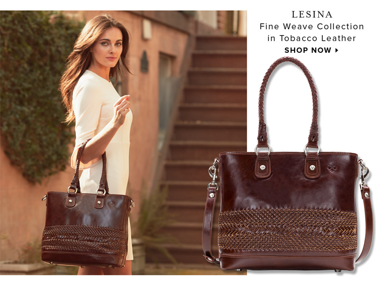 Lesina in Tobacco Leather from the Fine Weave Collection